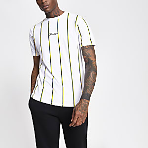 Prolific – Weißes T-Shirt mit Streifenmuster