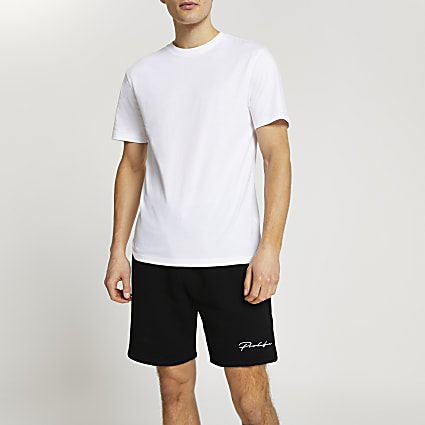 Prolific white t-shirt and short set