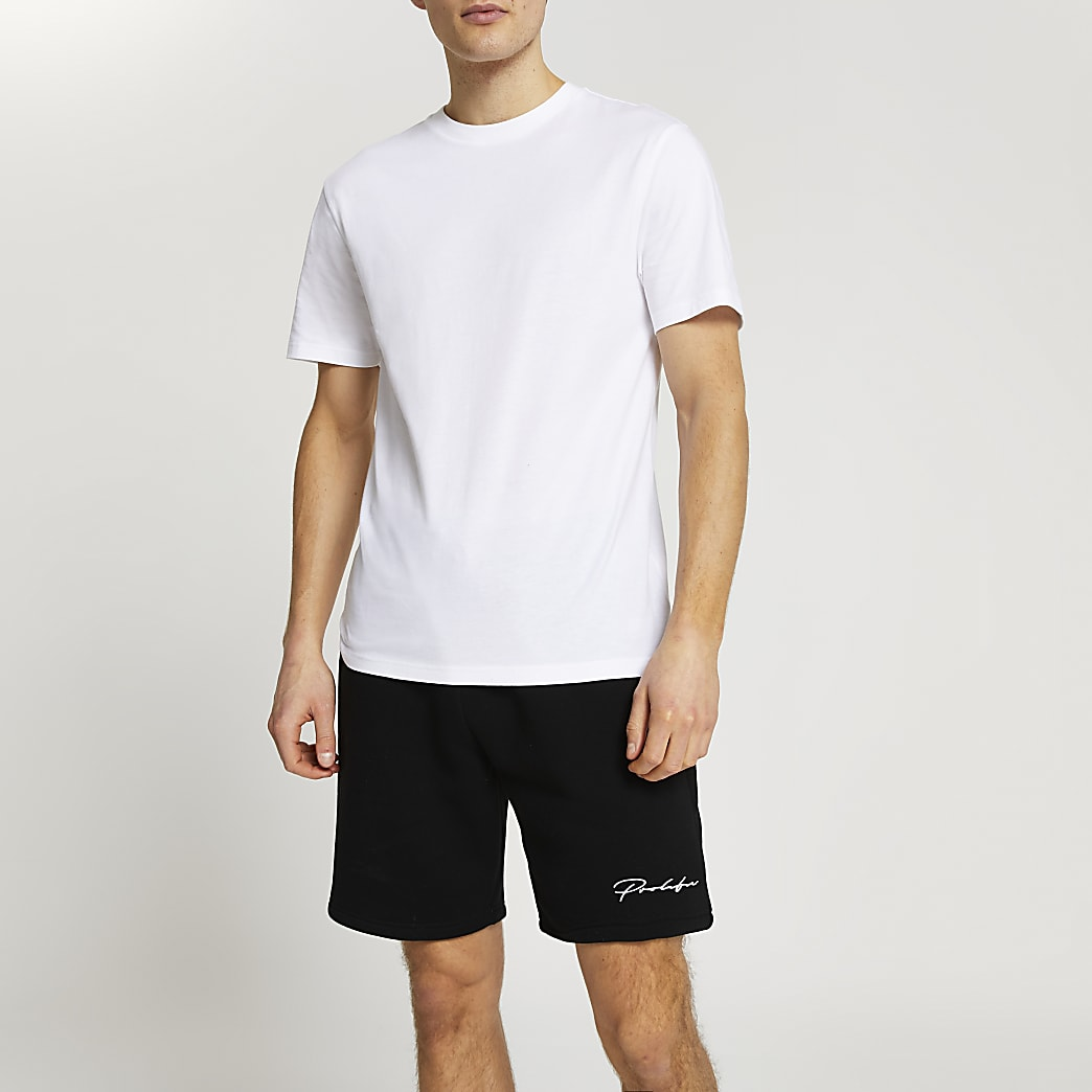 Prolific white t-shirt and short set
