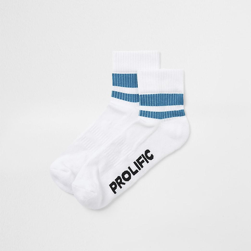 Prolific white tube sock