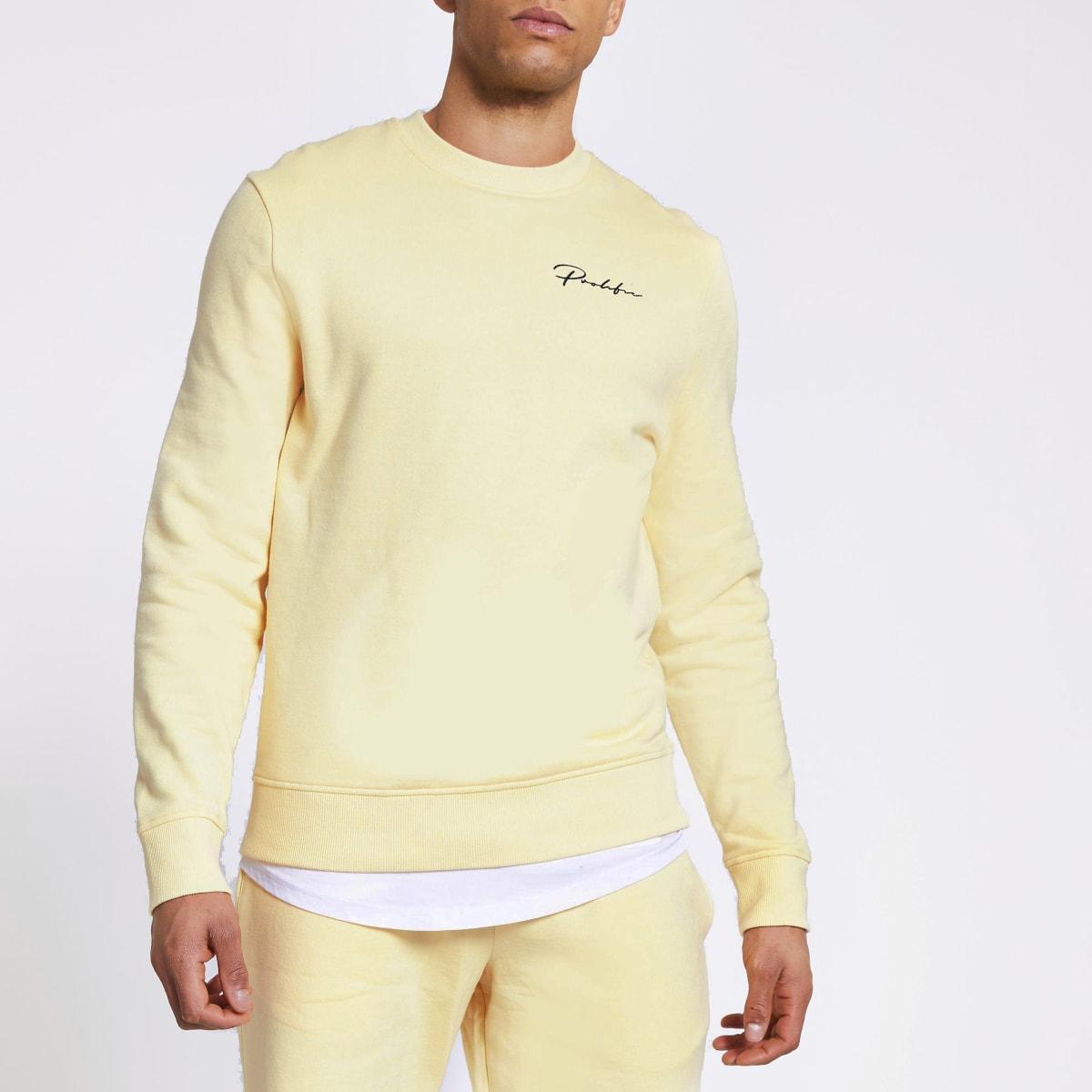 Prolific yellow slim fit sweatshirt