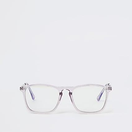 Purple blue light lens glasses