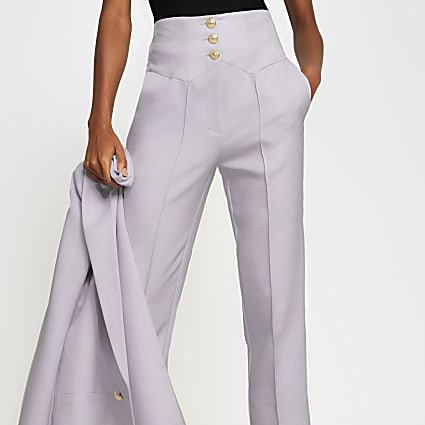 Purple corset high waist cigarette Trouser