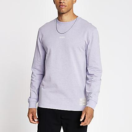 Purple DVSN long sleeve boxy fit T-shirt