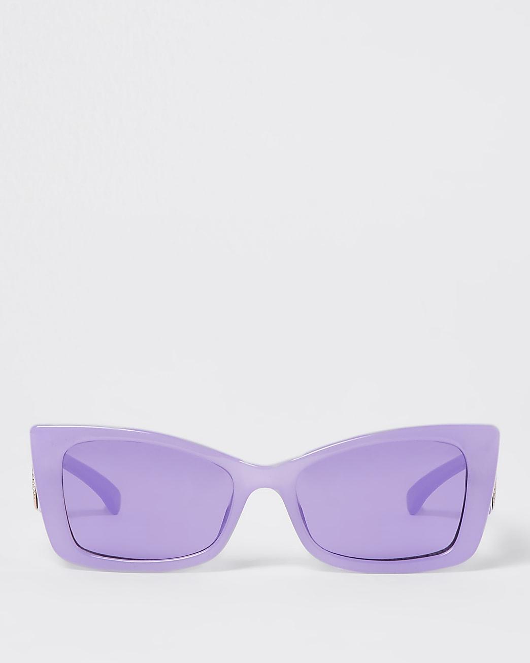 Purple flared cat eye sunglasses