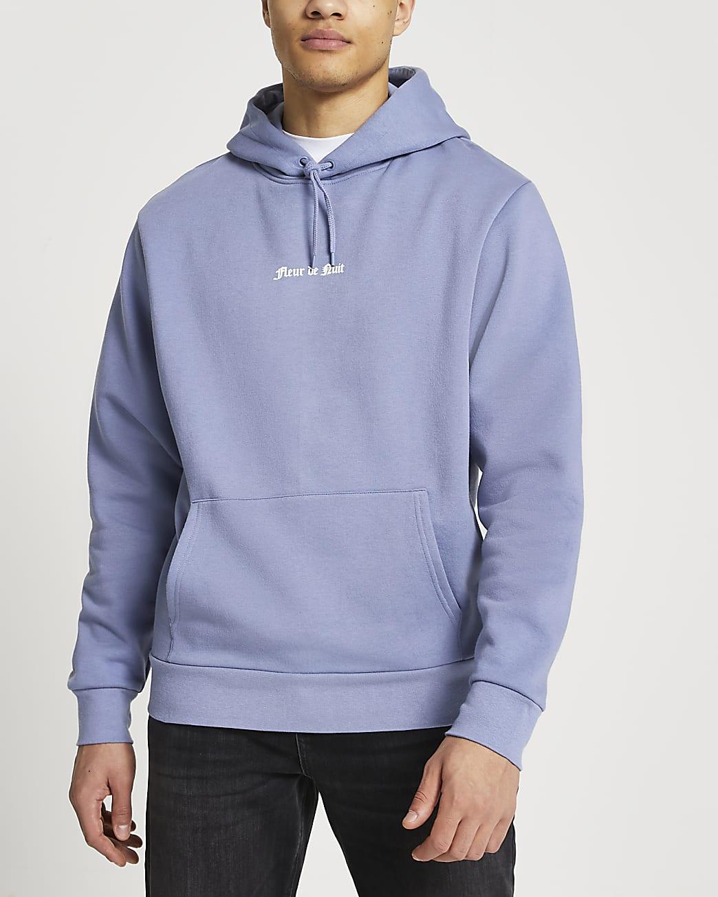Purple 'Fleur De Nuit' hoodie