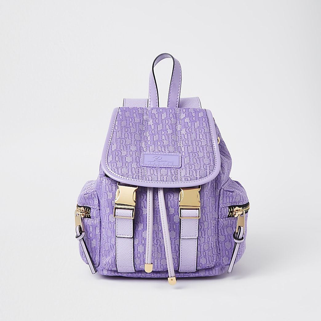 Purple jacquard Backpack