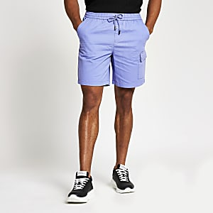 Purple Kaden box fit shorts