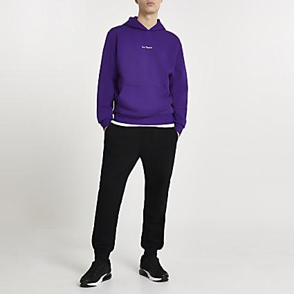 Purple 'Los Angeles' hoodie