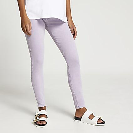 Purple Molly maternity jeans