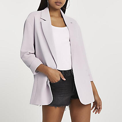 Purple oversized blazer