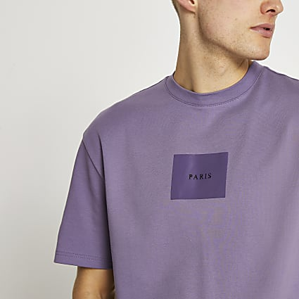 Purple 'Paris' t-shirt