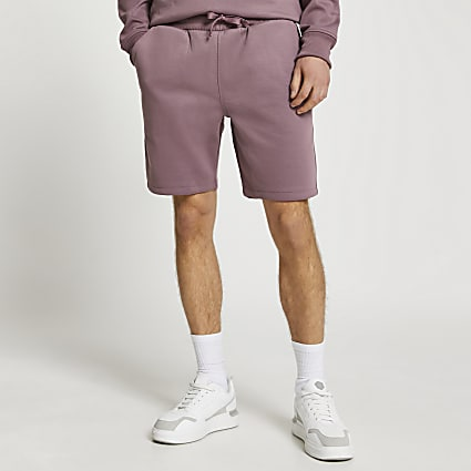 Purple premium slim fit shorts