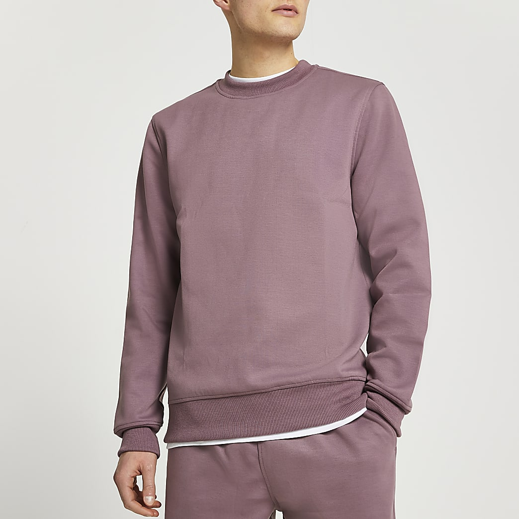 Purple premium slim fit sweatshirt