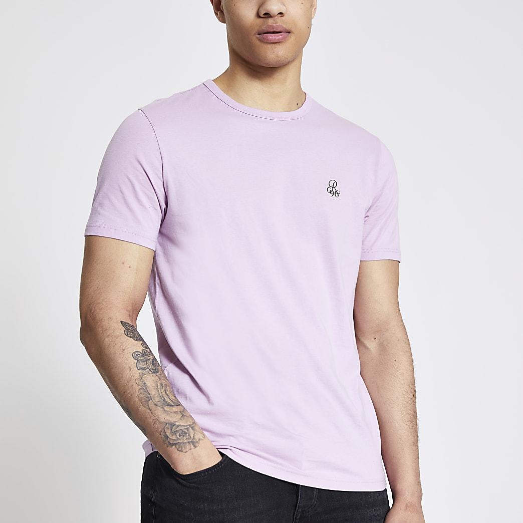 T-shirt slim R96 violetà manches courtes