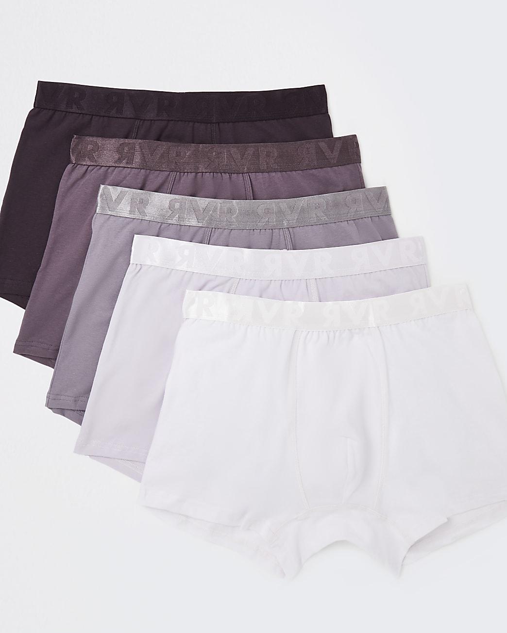 Purple RI branded trunks 5 pack