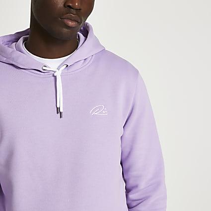 Purple RI slim fit hoodie
