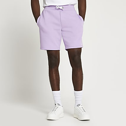 Purple RI slim fit shorts