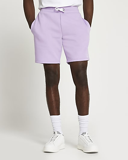 Purple RI slim fit shorts