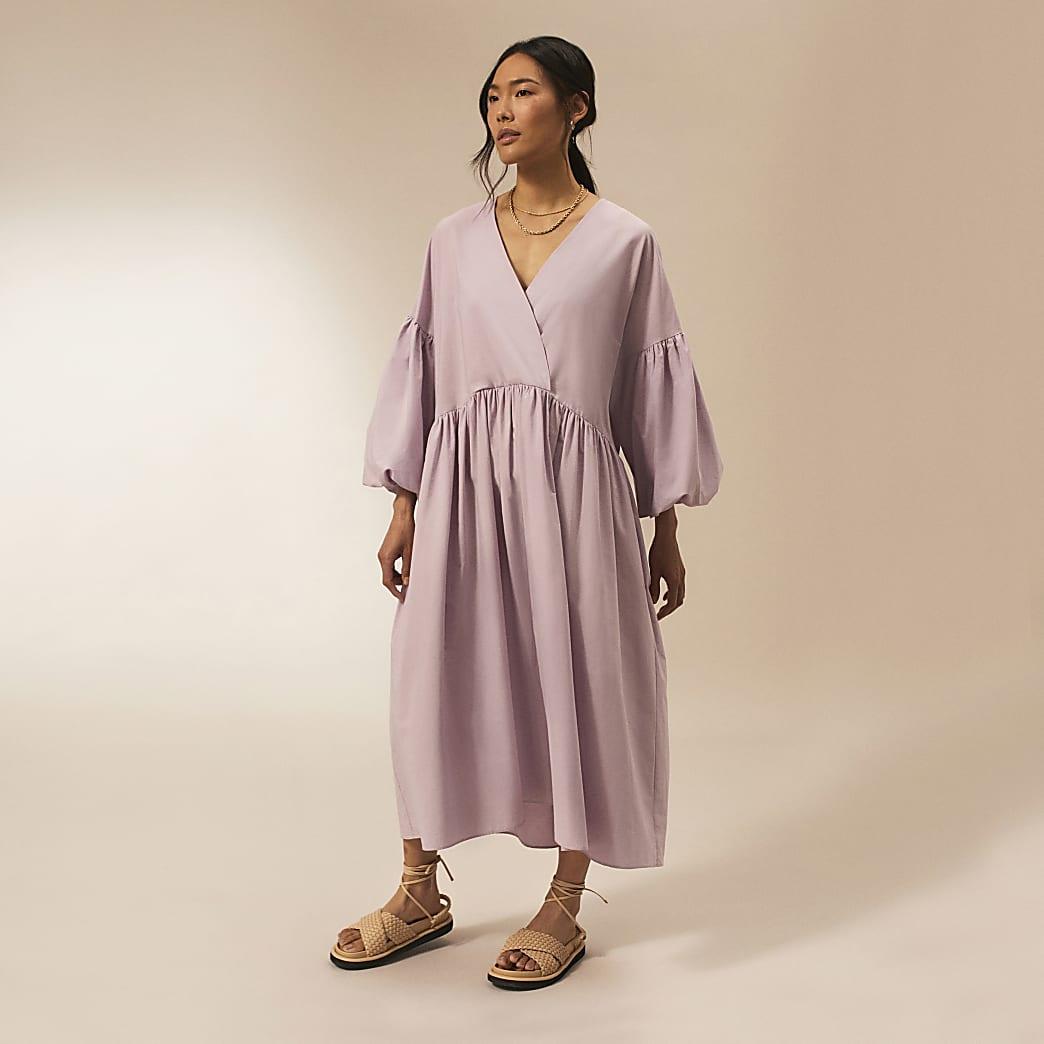Purple RI Studio cotton oversized dress
