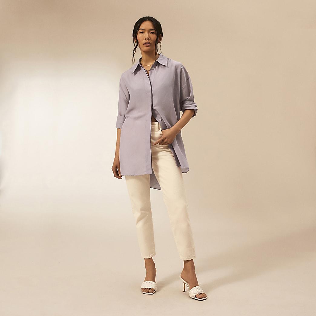 Purple RI Studio long sleeve oversized shirt
