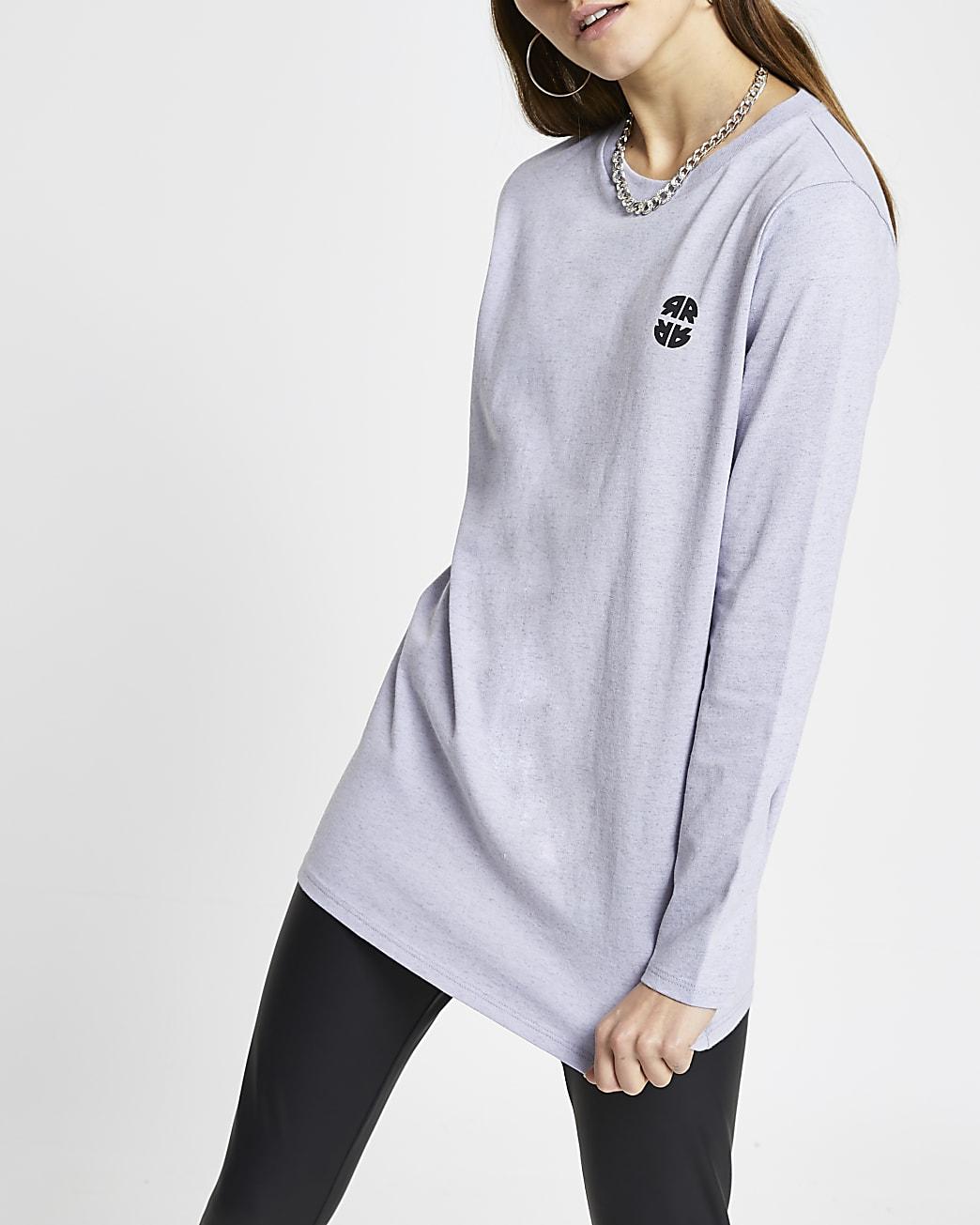 Purple RR longline t-shirt