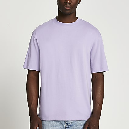 Purple short sleeve oversized t-shirt
