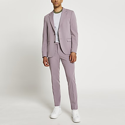 Purple skinny fit blazer