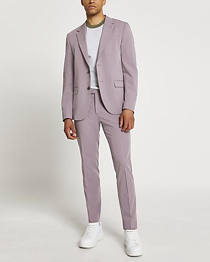 Purple skinny fit blazer