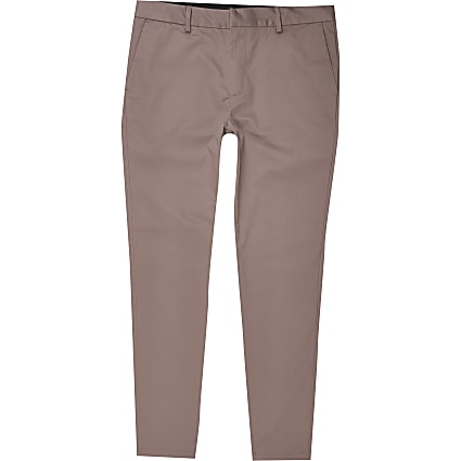 Purple skinny fit chino trousers