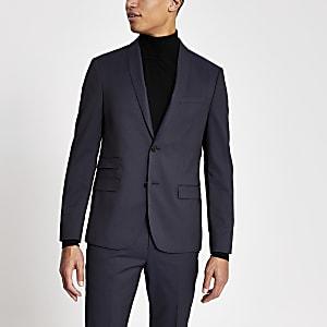 Purple skinny fit suit jacket