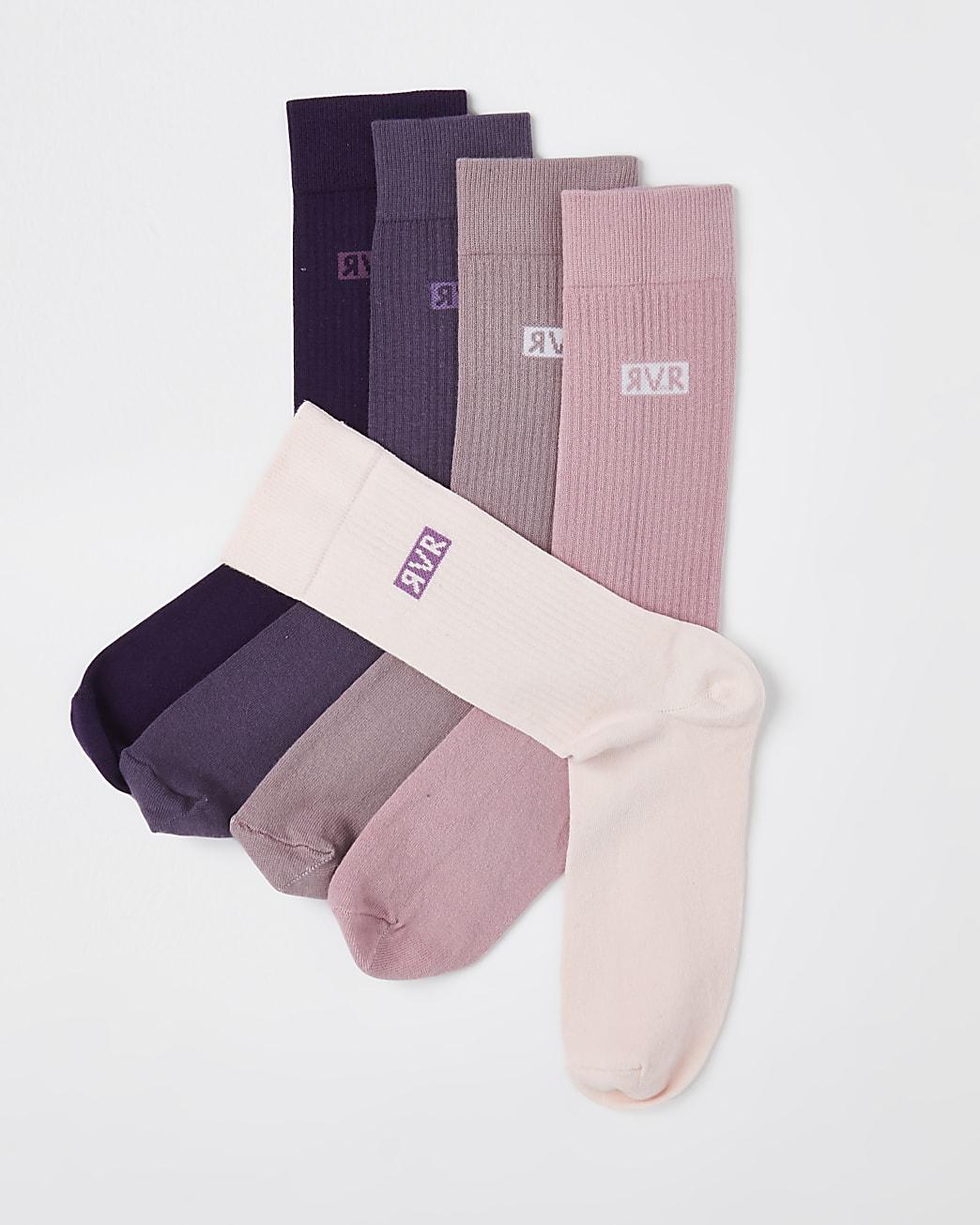 Purple socks 5 pack