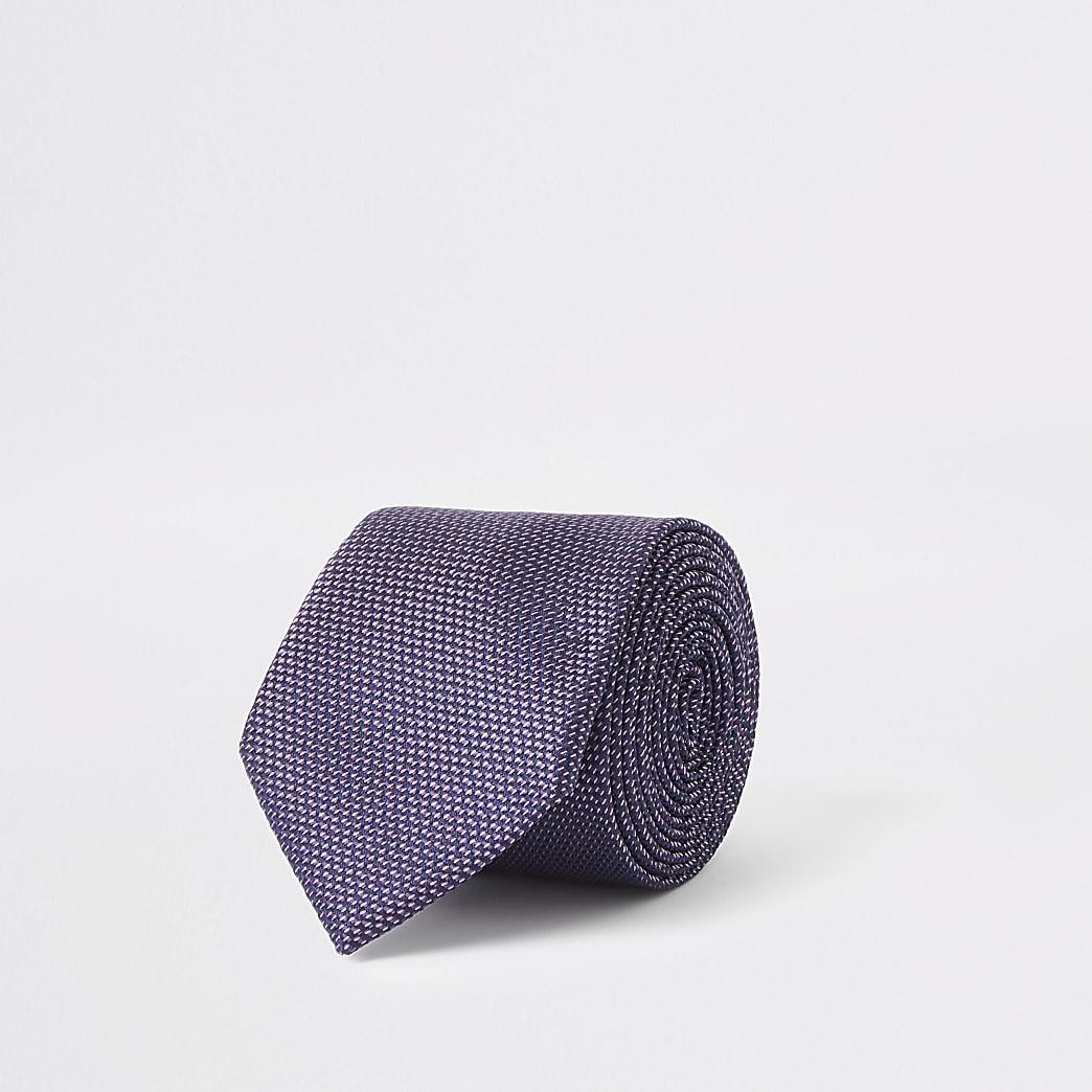 Cravate violette texturée