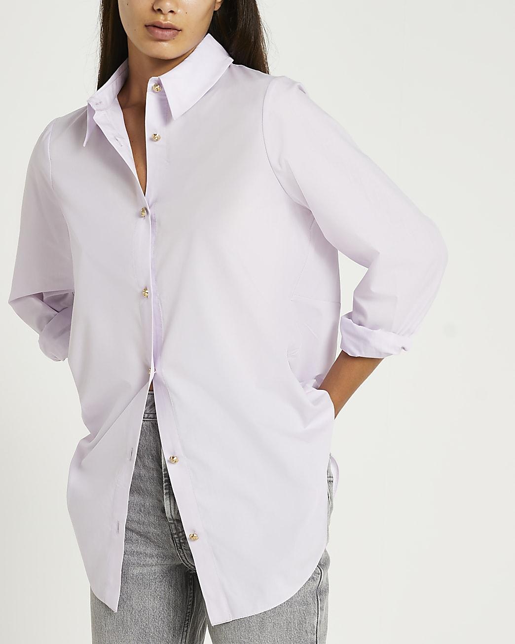 Purple twist back shirt