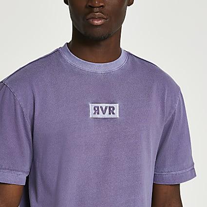 Purple washed drench RVR t-shirt
