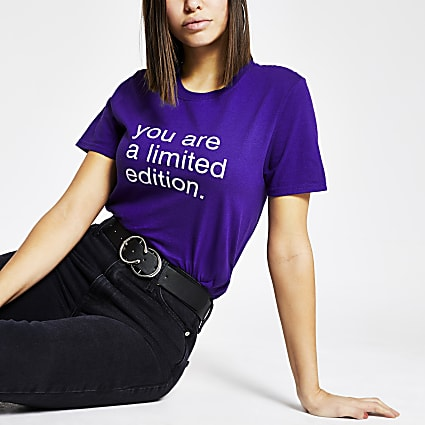 Purple 'You are limited edition' T-shirt