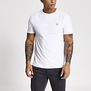 R96 – Weißes Slim Fit T-Shirt