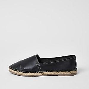 Ravel – Sandales espadrilles en cuir noir