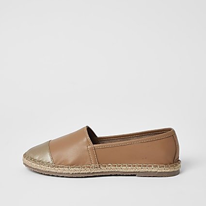 Ravel brown leather espadrille sandals