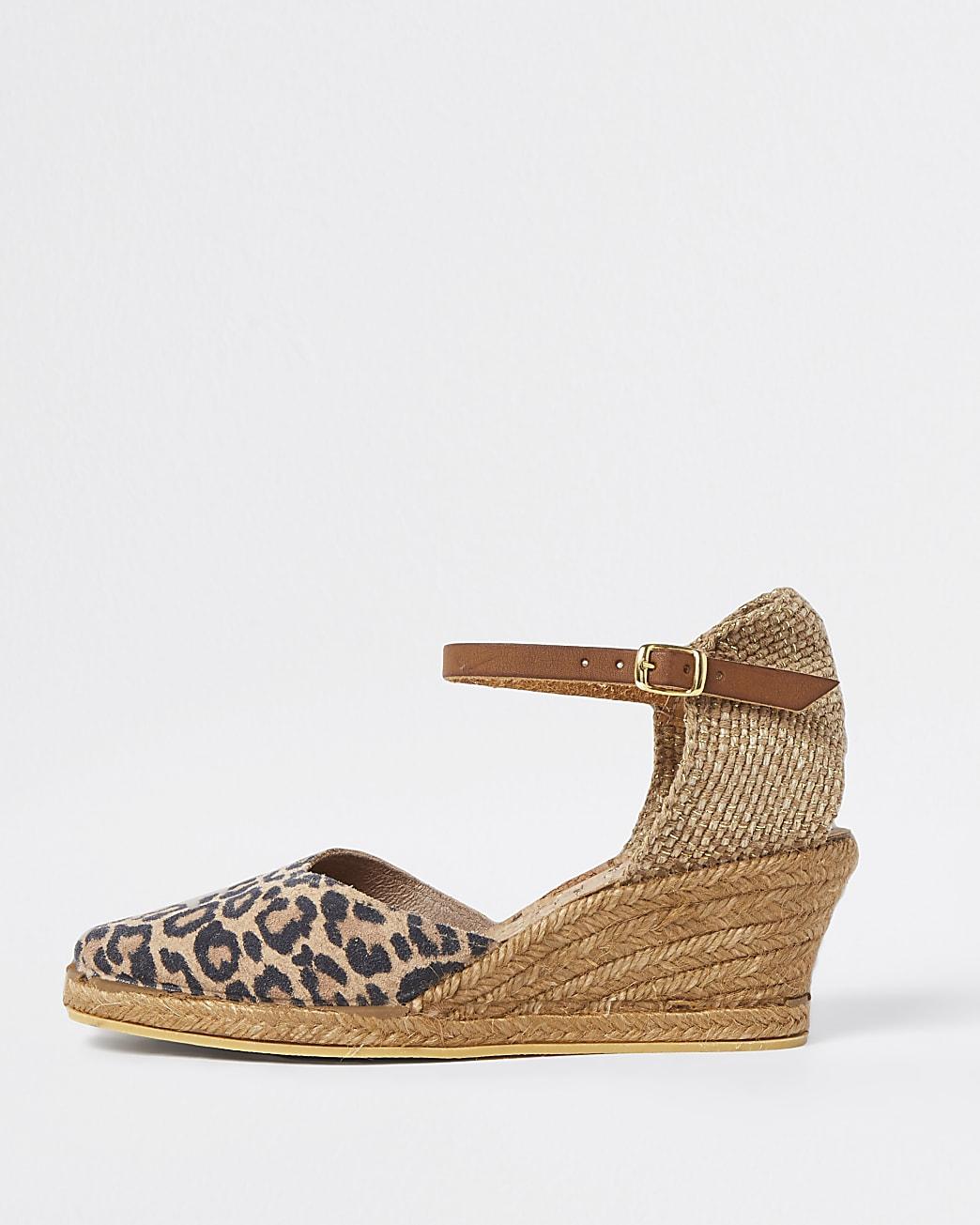 Ravel brown wedge sandals