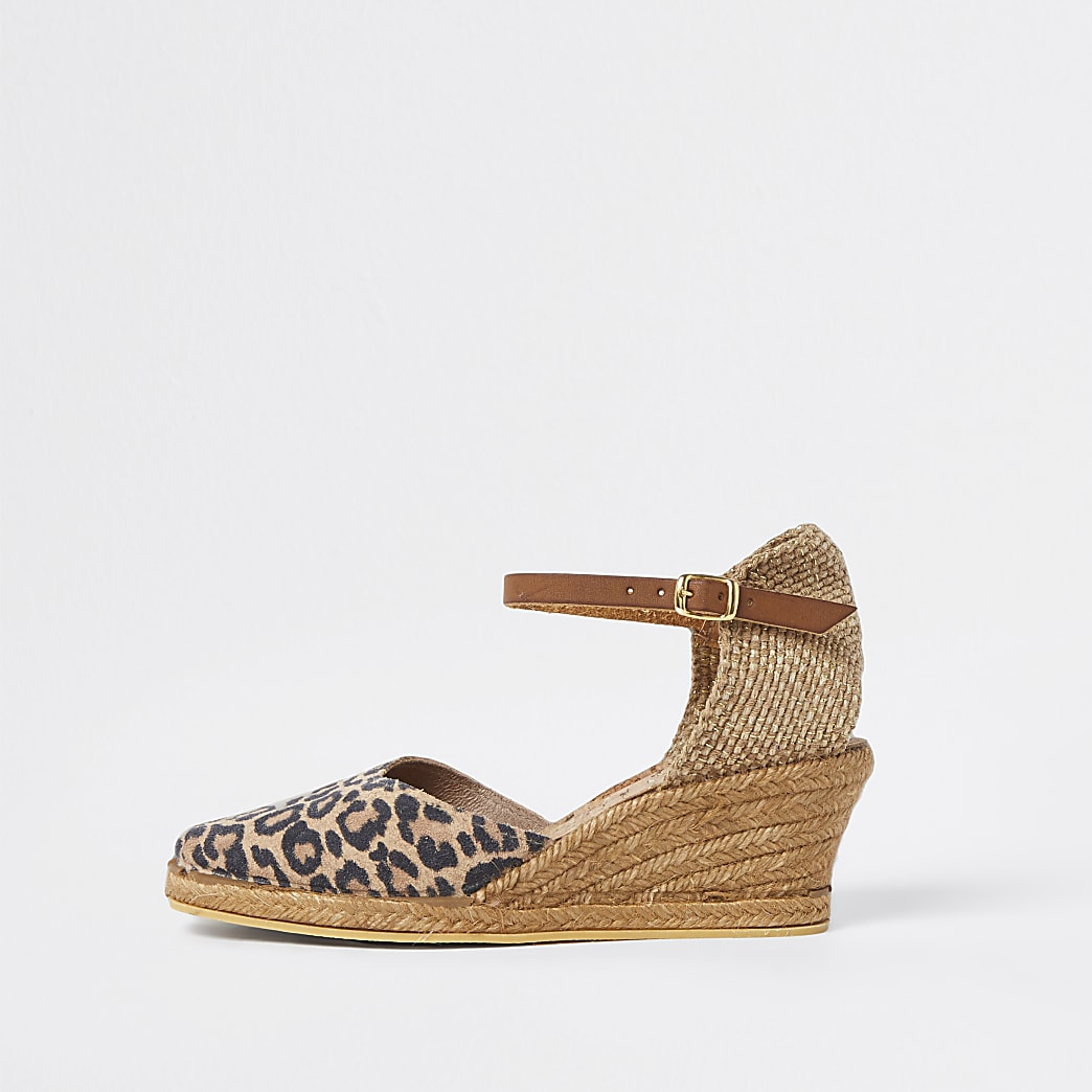 Ravel brown wedge sandals