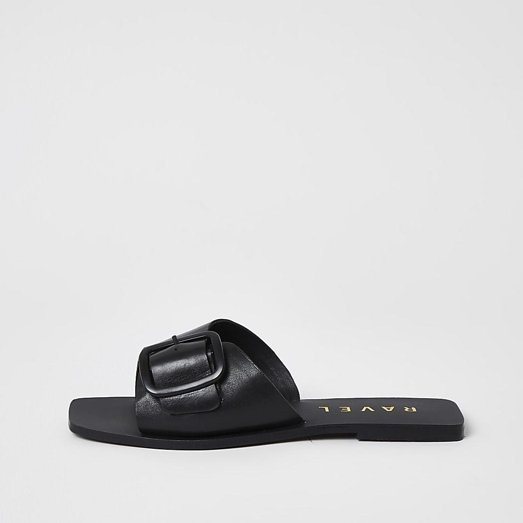 Ravel - Leren sandalen met bandje met gesp