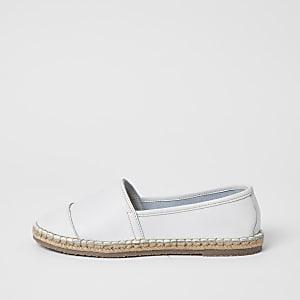 Ravel – Sandales espadrilles en cuir blanc