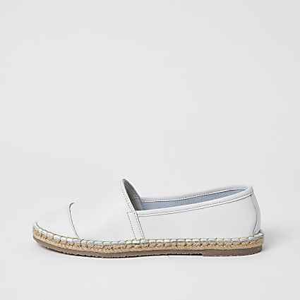 Ravel white leather espadrille sandals
