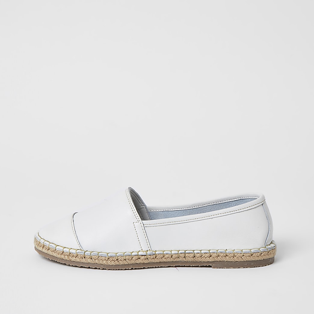Ravel white leather espadrille sandals