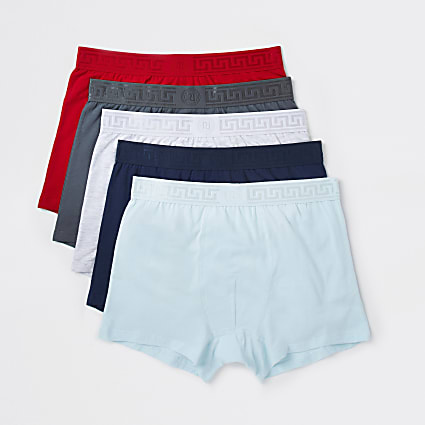 Red Greek RI waistband trunks 5 pack