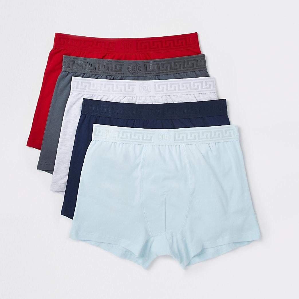 Red Greek RI waistband trunks 5 pack