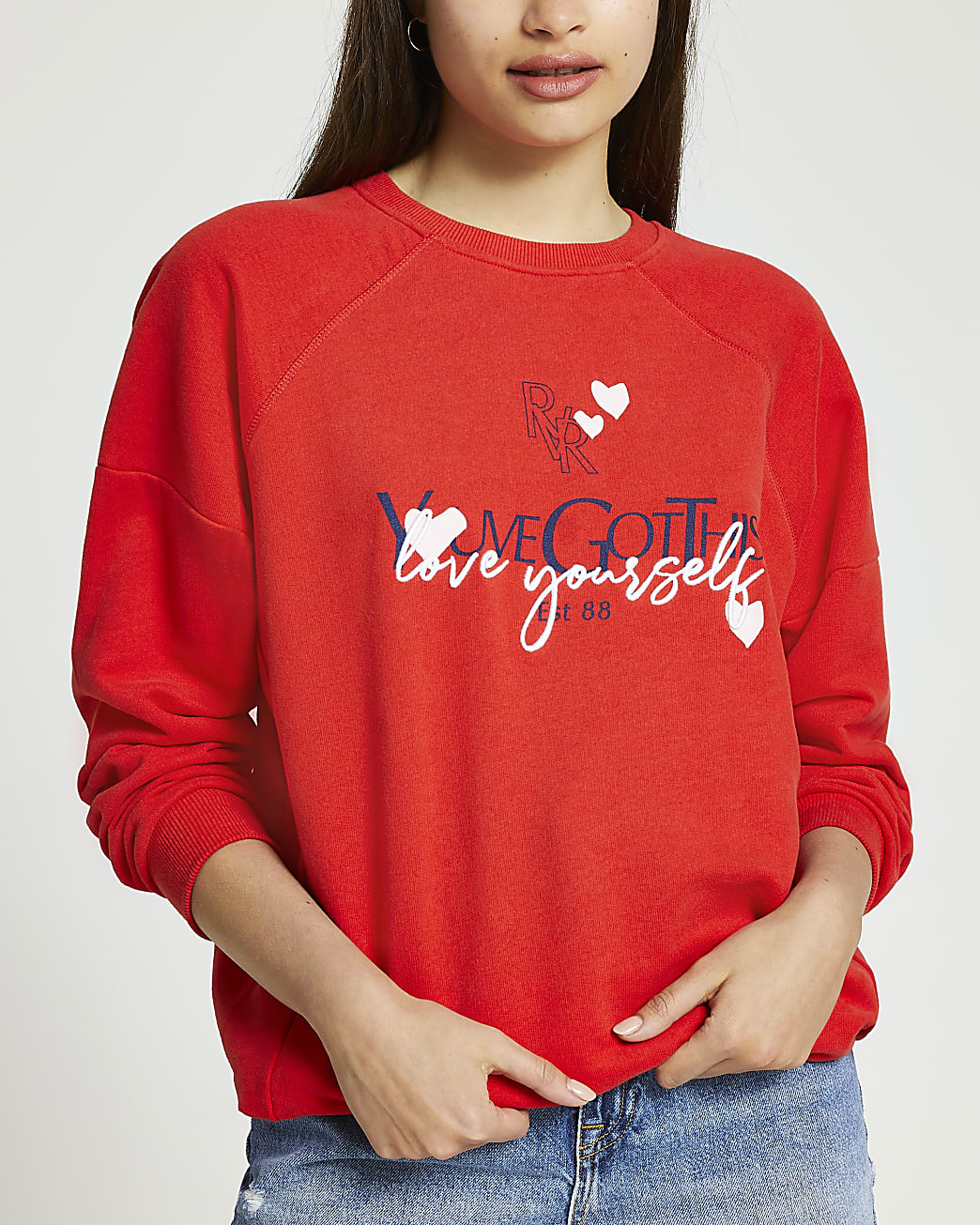 """Red long sleeve """"You've Got This"""" sweat"""