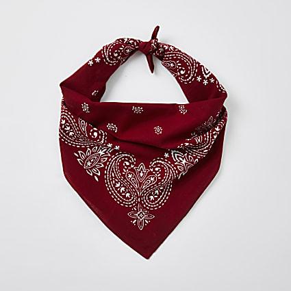 Red print bandana