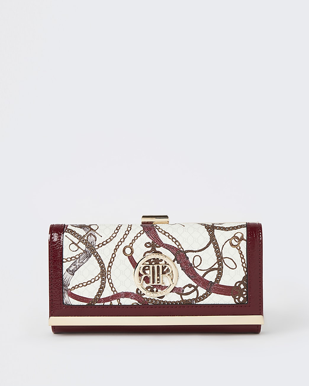Red printed purse